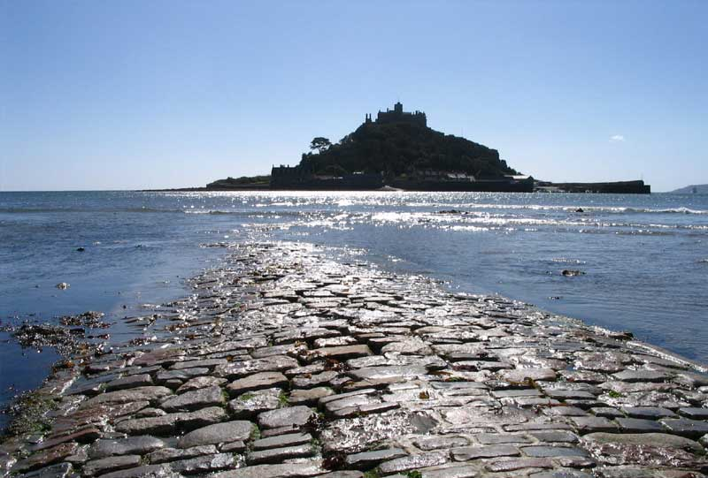 <br>Causeway to St Michael's Mount on the ebb tide., Penwith Local History Group