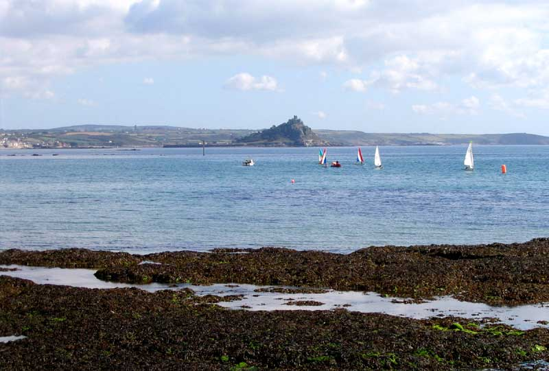 <br>St Michael's Mount from the Coast Path by Penzance station., Penwith Local History Group