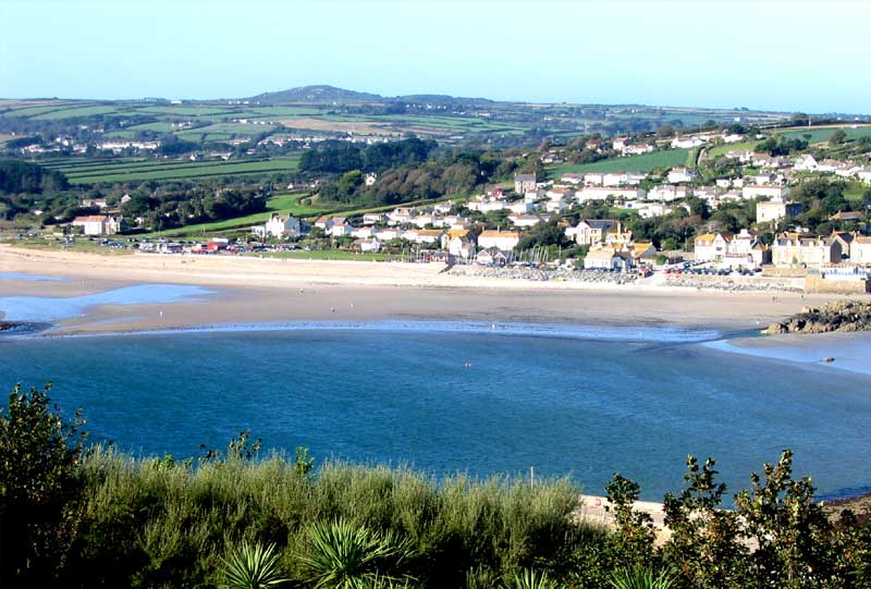 <br>Marazion from St Michael's Mount, Trencrom on skyline., Penwith Local History Group