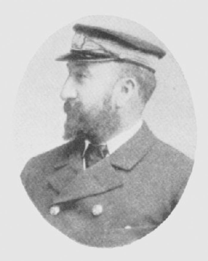 Captain Griffiths of the Mohecan (https://en.wikipedia.org/wiki/SS_Mohegan#/media/File:SS_Mohegan_Captain_Griffith.jpg)
