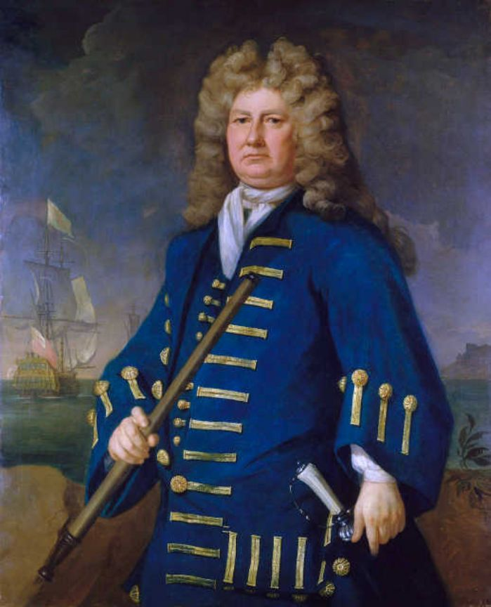 Admiral Sir Cloudesley Shovell by Michael Dahl (Wikipedia)