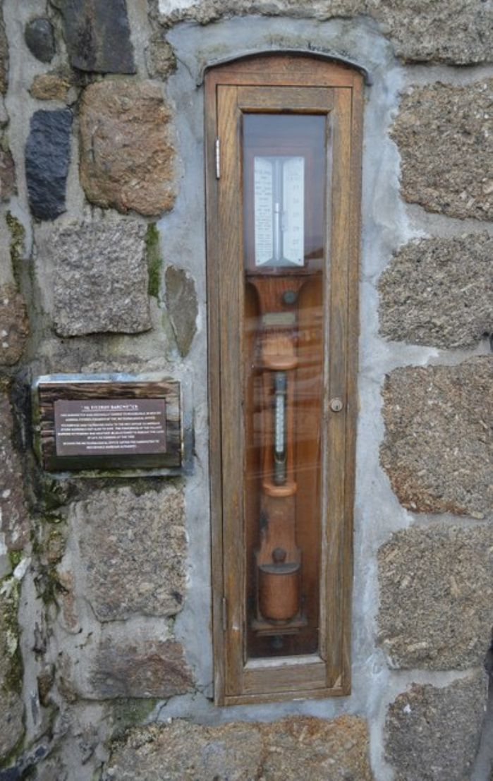 The Fitzroy barometer at Mousehole (N. Chadwick http://www.geograph.org.uk/photo/5121185)