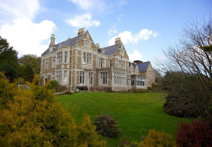 Treloyhan, the house built by Edward Hain in 1892, now a hotel (photo courtesy of Treloyhan Manor Hotel)
