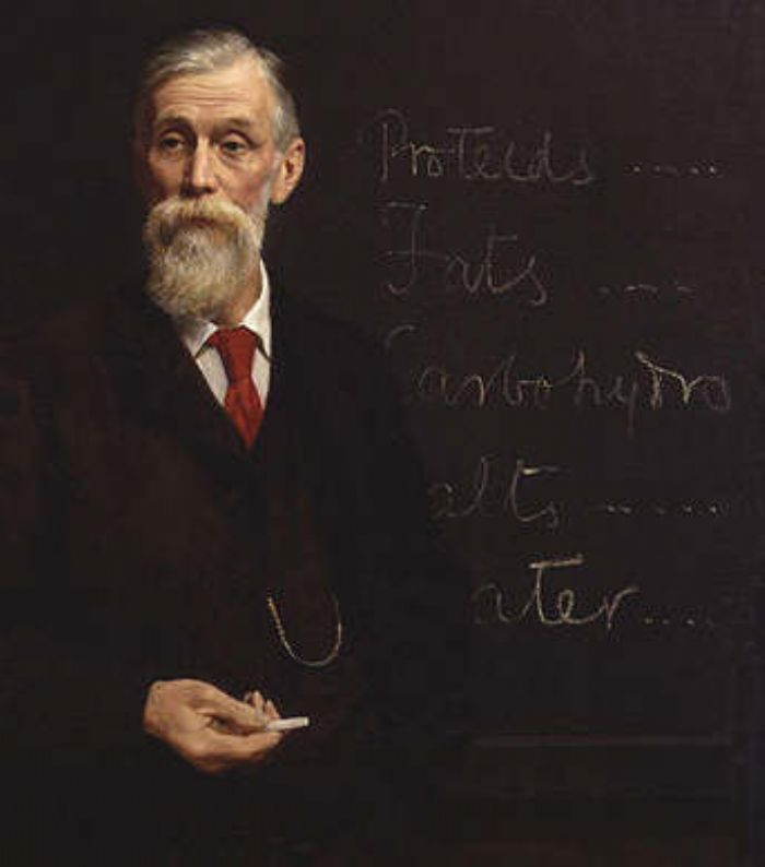 Sir Michael Foster by John Collier (a photo of the original artwork from Wikipedia)