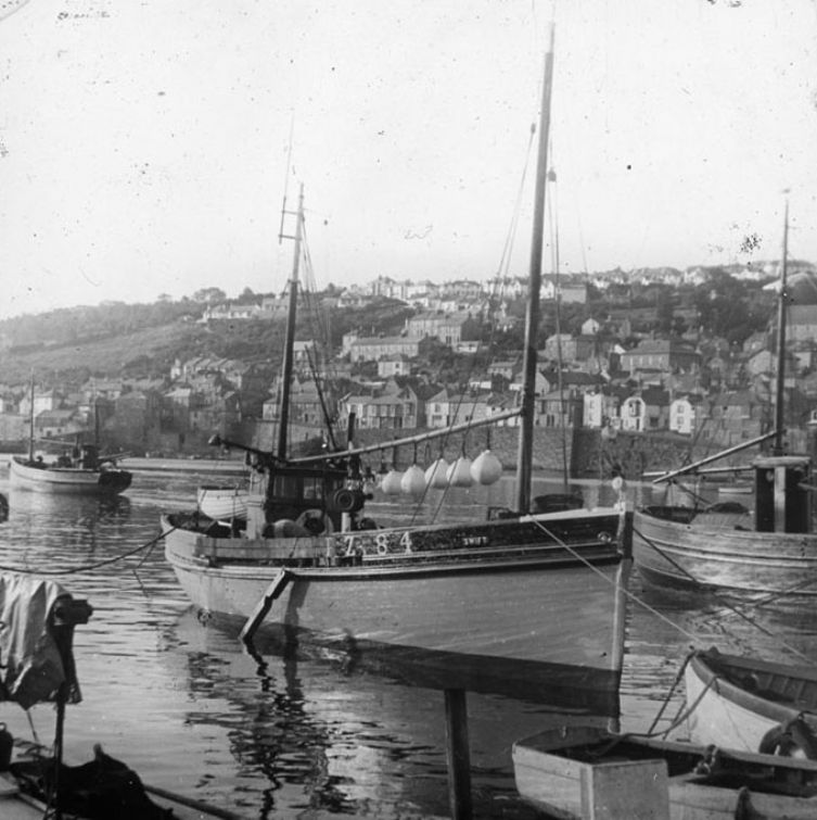 Eric Whittaker, c.1950 The Swift in Newlyn Harbour Penlee House Gallery & Museum, Penzance ©The Photographer's Estate