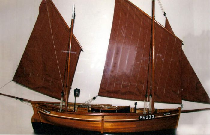 A model of the Newlyn lugger Mystery (photo; Ron Hogg)