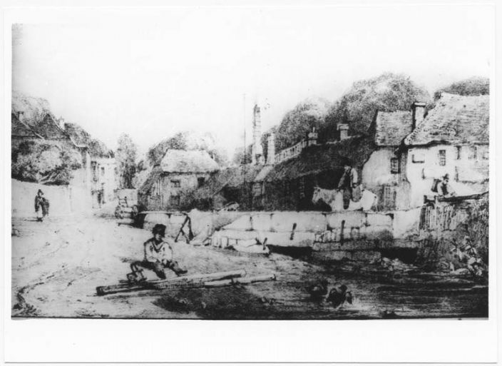 Chyandour in about 1820, probably much as it had been in 1724 (courtesy of Morrab Library Photo Archive)