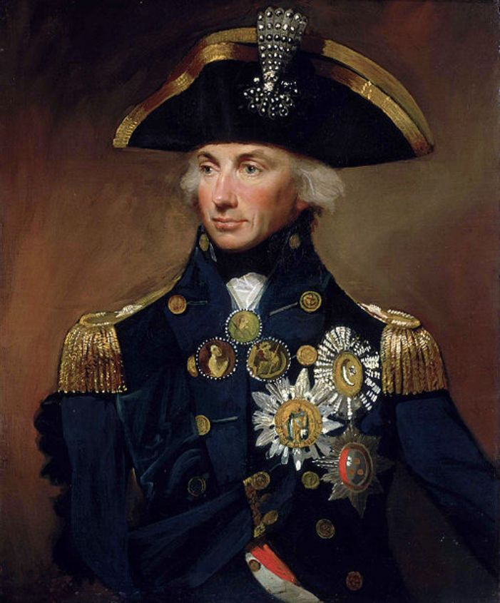 Nelson by Lemuel Francis Abbot, 1799 (original painting in the collection of the National Maritime Museum, via Wikipedia, https://commons.wikimedia.org/wiki/File:HoratioNelson1.jpg)