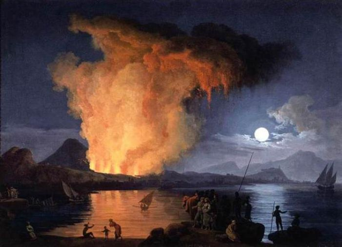 Coming to a ceiling near you? The Eruption of Mount Vesuvius by Pierre-Jacques Volaire (Wikimedia)