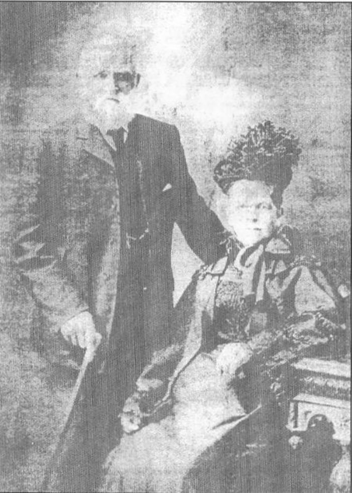 Sally Hutchings (nee Prowse) with her husband Joseph Hutchings