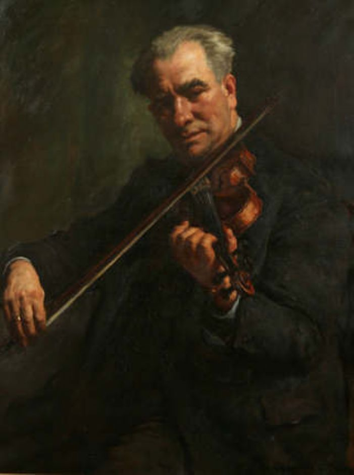 Stanhope Alexander Forbes 1857-1947 The Violinist [Walter Barnes, Conductor of the Penzance Orchestral Society] Oil on canvas, 92  x 71.5 cm Penlee House Gallery & Museum, Penzance, on loan from the Penzance Orchestral Society © The Artist's Estate / Bridgeman Images