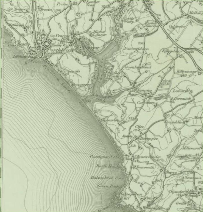"Ordnance Survey 1"" map of 1895 from the National Library of Scotland"