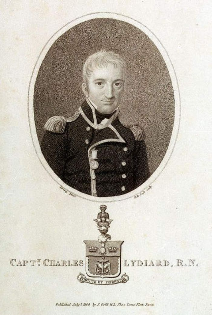 Captain Charles Lydiard of the Anson 1808 (from an original in the National Maritime Museum)
