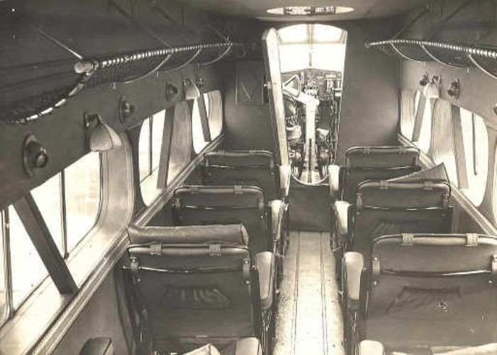 Arriving at St Just shortly? Interior of a De Havilland Dragon
