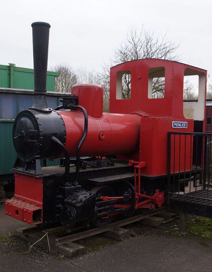Penlee, ending her days at Leighton Buzzard Light Railway and clearly a static exhibit. (photo by NearEMPTiness via Wikipedia)