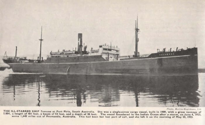 SS Trevessa, built by Redheads in South Shields for the Hain Line (photo courtesy of Shipwrecks of Mauritius)