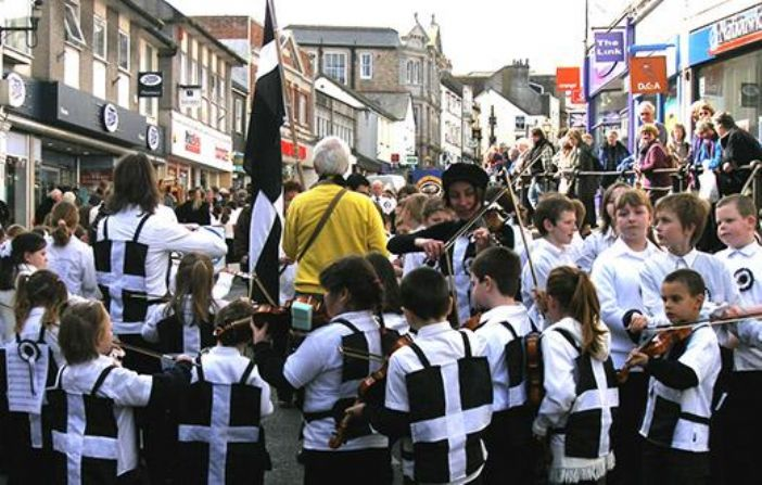 St Piran's day in Penzance