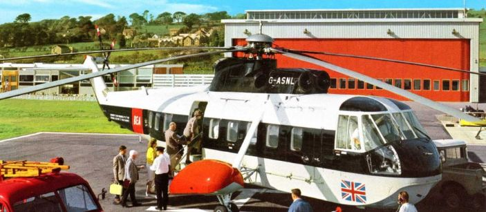 BEA Sikorsky S61N helicopter at Penzance Heliport
