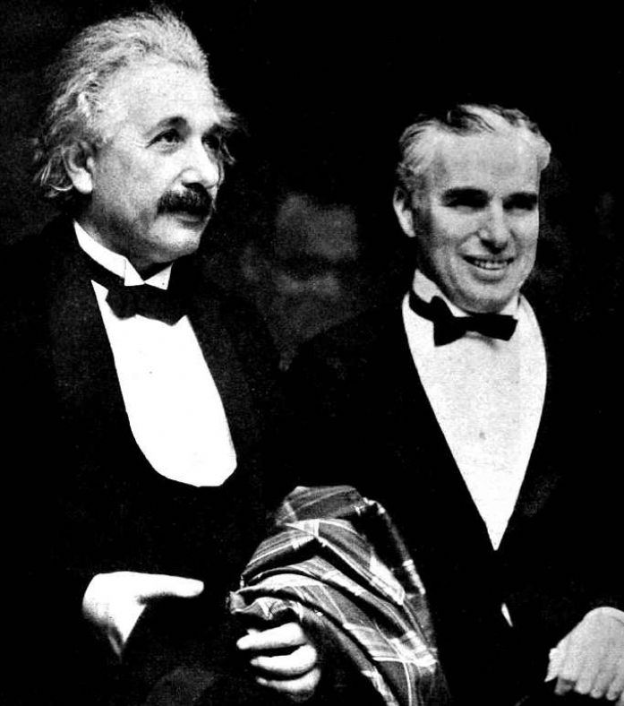 Albert Einstein and Charlie Chaplin at the premiere of City Lights in 1931