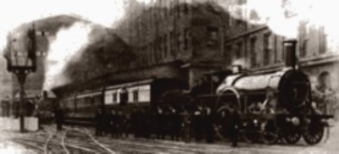 Final broad gauge Cornishman leaving Paddington, 20/5/1892