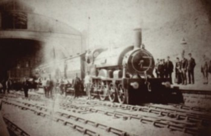 The last broad gauge up Cornishman leaving Penzance, 20/5/1892