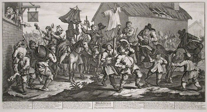Hudibras Encounters the Skimmington, William Hogarth, via <a href=