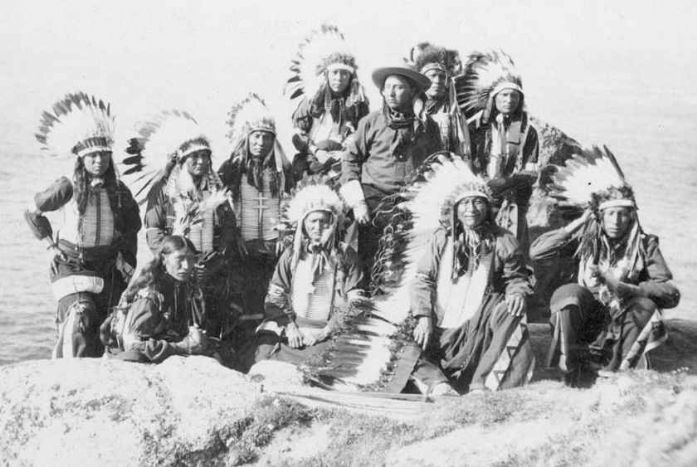 Native Americans from Buffalo Bill's Wild West at Lands End