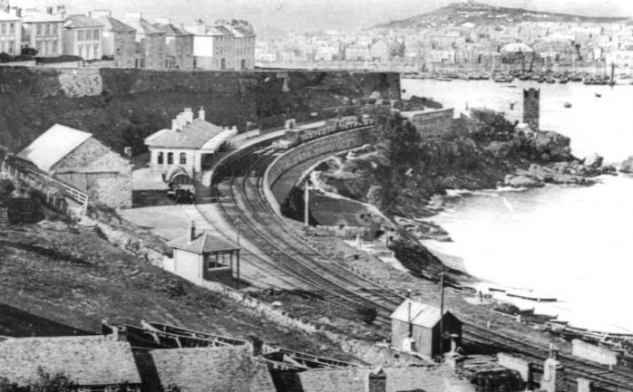 St Ives station c1890 (Wikipedia)