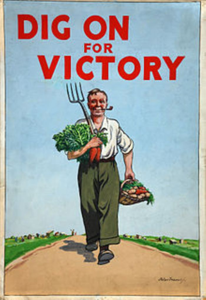 Dig For Victory, another initiative to ensure the food supply and support morale on the home front in WW2