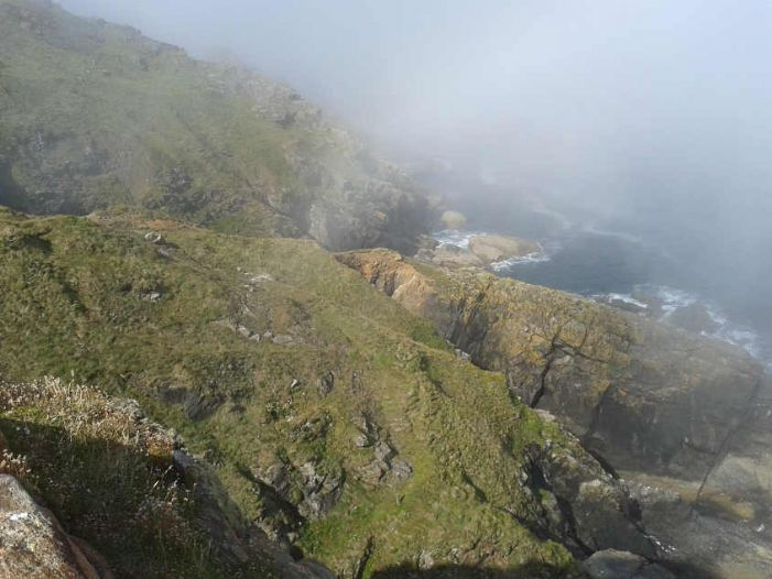 Mist off the west coast of Penwith, this is near Levant. (picture Ted Mole)