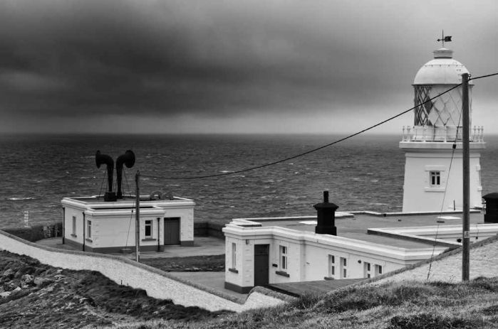 Pendeen Light, about to have a wash (courtesy: Wolverson Photography