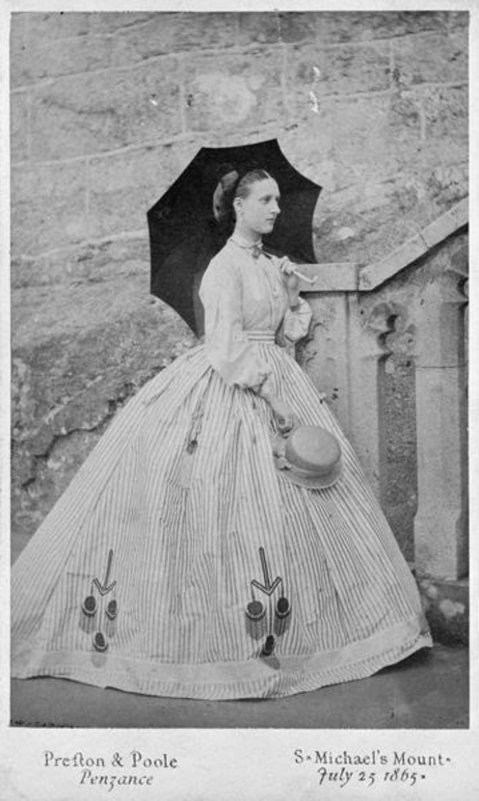 Princess Alexandra relaxes at St Michael's Mount the day after her visit to Penzance and Botallack (kind permission of https://byronsmuse.wordpress.com/)