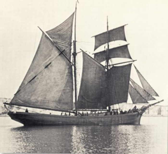 Typical St Ives schooner brig (courtesy of the St Ives Archive)