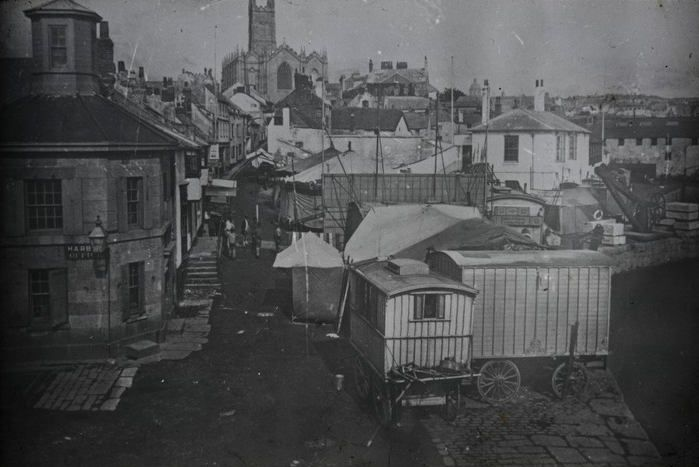 Penzance Quay Fair, where Bessie Yates went with her Dad, Charlie, shortly before she died. (photo courtesy of Morrab Library Photographc Archive)