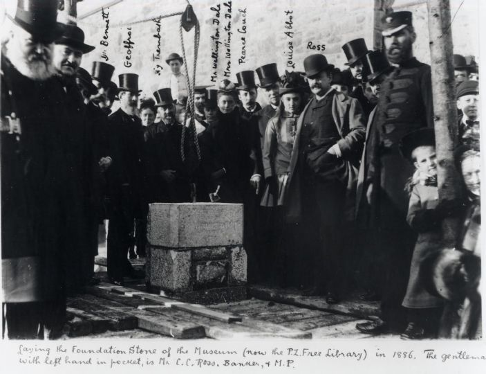 The Laying of the foundation stone of the Penzance Museum in 1886 (courtesy of Penlee Gallery)