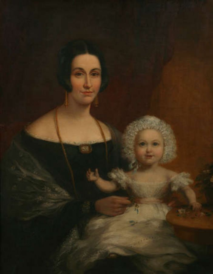 Helen Holmes Batten, Mayoress of Penzance, and her child painted by Richard Pentreath (courtesy of the Penlee House Gallery and Museum, Penzance)