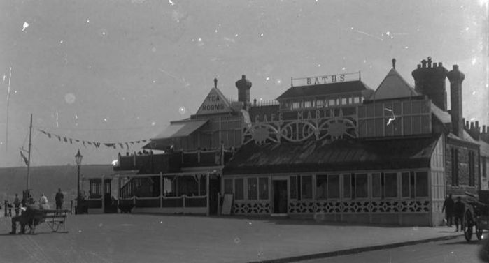 The Cafe Marina (built 1887, demolished 1935): scene of Phyllis Bottrell's triumph (Morrab Library Photographic Archive, accessed July 25, 2017,  http://photoarchive.morrablibrary.org.uk/items/show/9611.