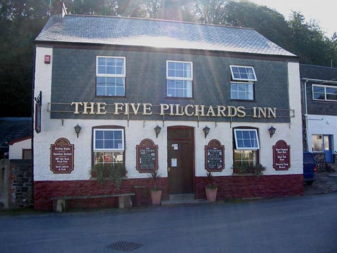 Five Pilchards Inn, Porthallow (photo Ted Mole)
