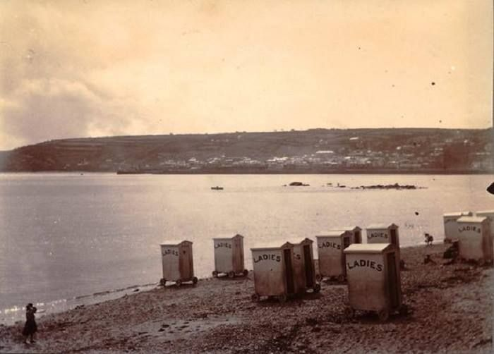 Ladies bathing beach, Penzance (Cornish Nostalgic Memories via FaceBook)