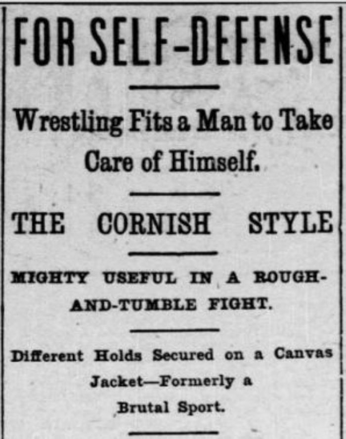 Promoting Cornish wrestling in the United States (private collection)
