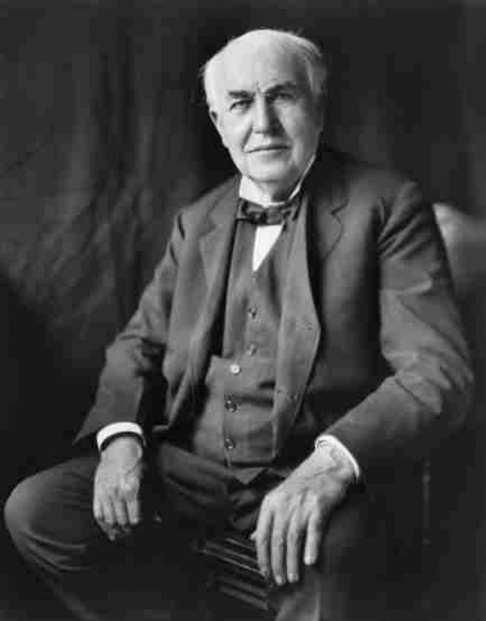 Thomas Edison photographed by Louis Bachrach, Library of Congress (via Wikipedia)